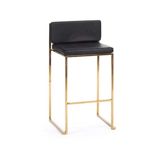 Pleasing Saki Barstool Black With Gold Frame Bubble Nyc Ncnpc Chair Design For Home Ncnpcorg