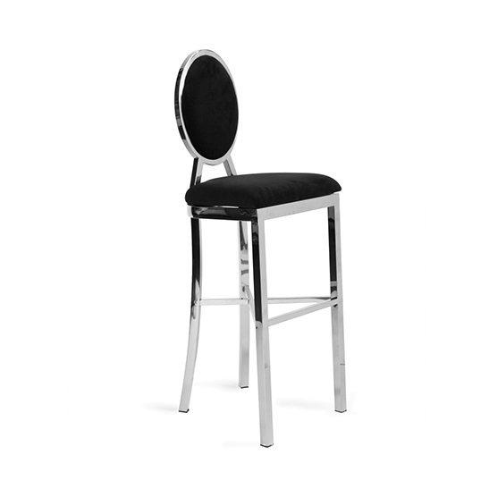 Swell Alice Barstool Black With Silver Frame Bubble Nyc Ncnpc Chair Design For Home Ncnpcorg